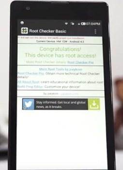 ... root telah benar benar sukses dengan menggunakan Aplikasi Root Checker
