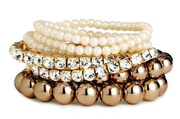 lot de 7 bracelets h&m