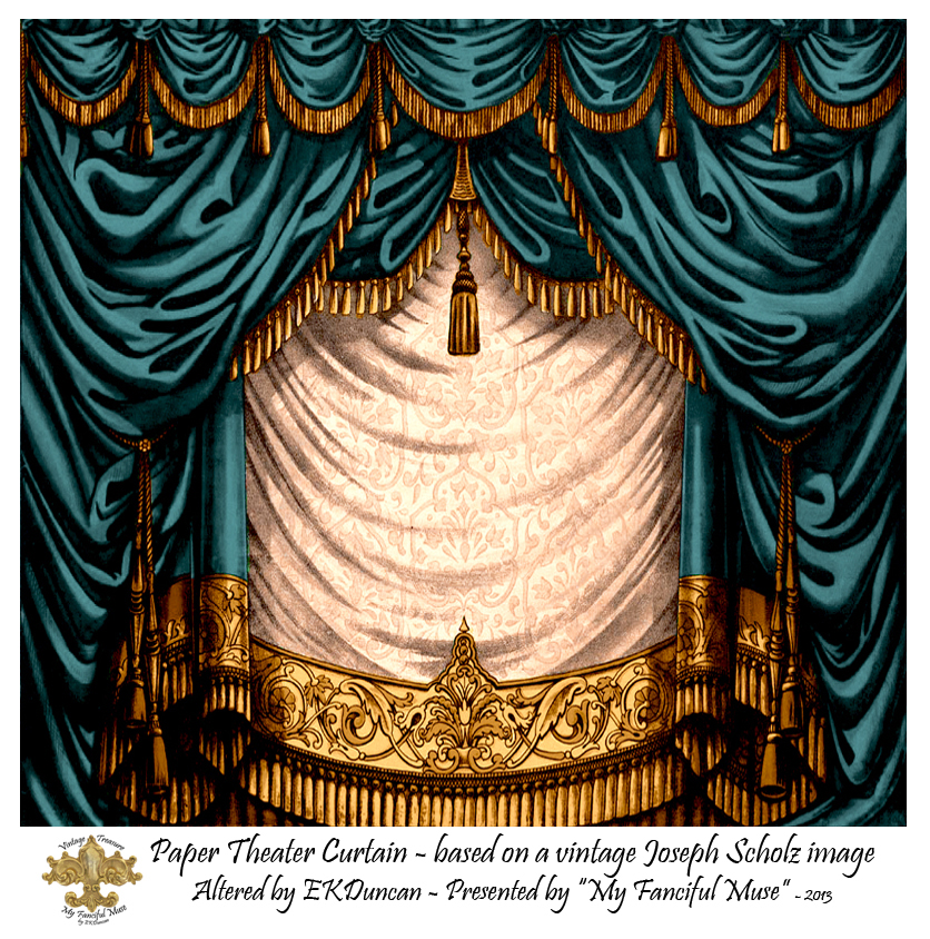 Used Theatrical Drapes: My Fanciful Muse: Cherub Toy Theater