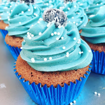 Blueberry Cupcakes wit Chocolate