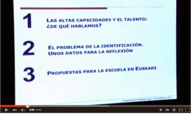 Hablando a la comisión de educación del Parlamento Vasco I