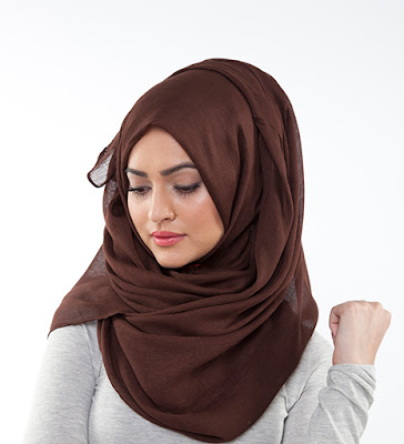 Brown Cotton Hijab
