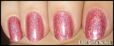 china glaze kaleidoscope collection Don't be a Square pink holo swatches