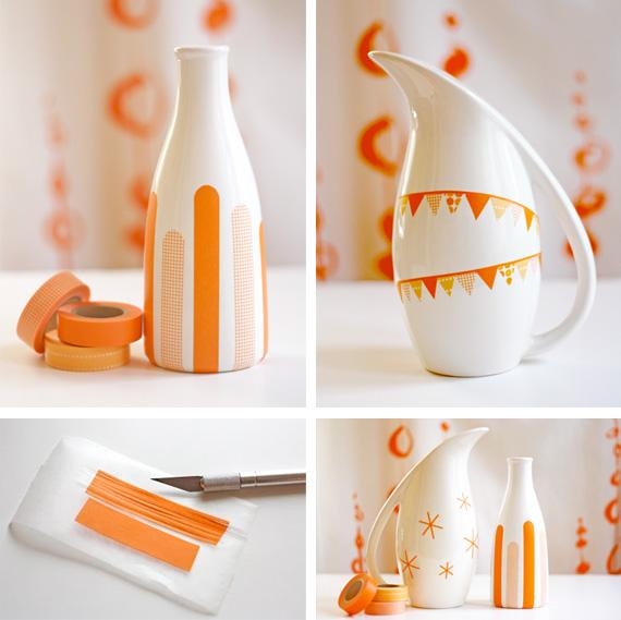 Gin design room decoracion con washi tape washi tape decoration - Decoration masking tape ...