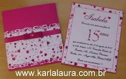 Convite de 15 anos pink