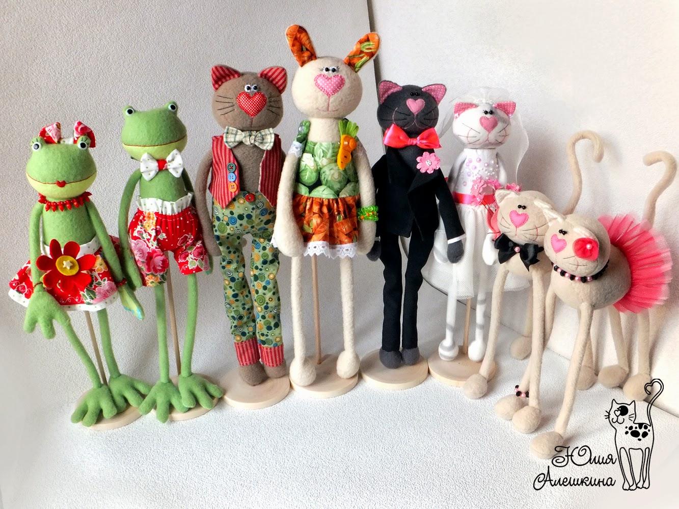 Авторские игрушки из флиса