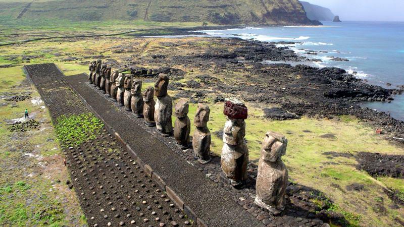 KAP on Tongariki - Easter island