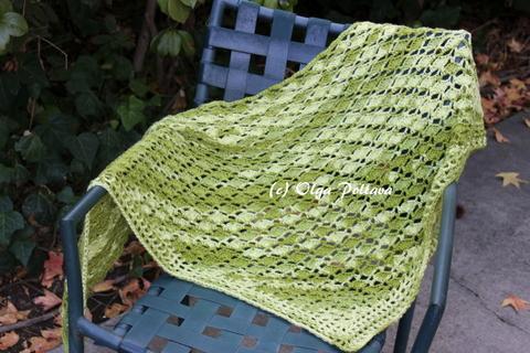 Lacy Crochet Avocado Green Shawl My New Crochet Pattern