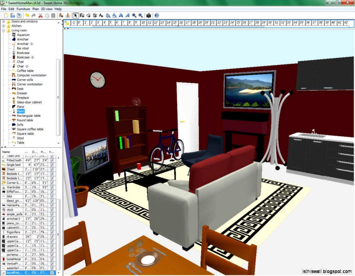 Sweet home design 3d this wallpapers for Interior design layout programs