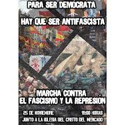 Manifestación Para ser Democrata hay que ser Antifascista