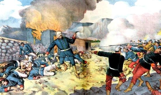 Ilustración de la Batalla de Tarapacá