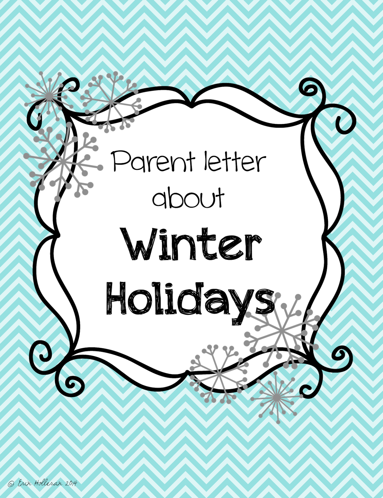 Preschool Ponderings Friday Freebie  Parent Letter About Holiday