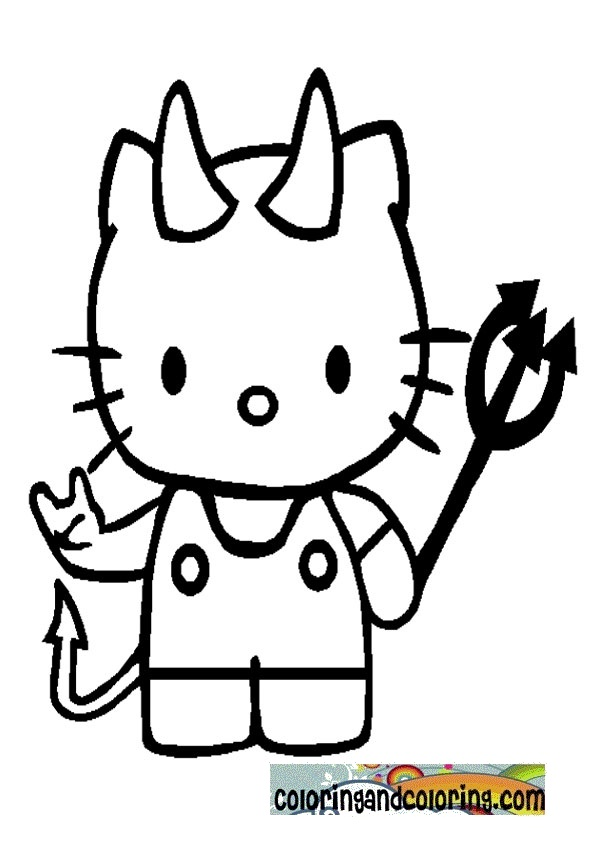 Hello Kitty Coloring Pages Are Featuring Kitty Father