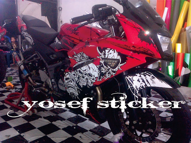 cutting sticker ninja 150 ,art sticker by yosef sticker surabaya