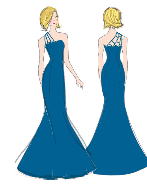 Prom Dress Fashion Sketches
