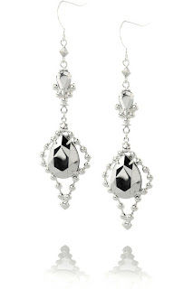 chandelier earrings silver