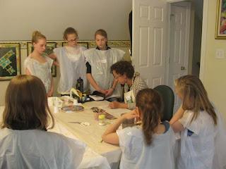Deborah Younglao silk painting class: demo