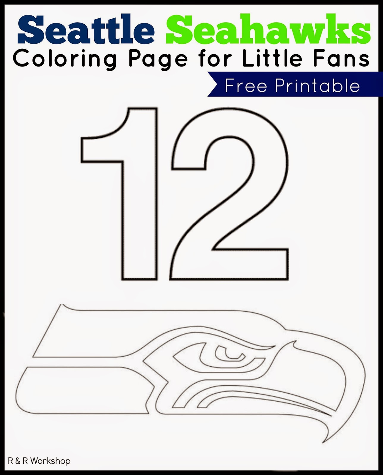 Pin Seahawks Coloring Pages On Pinterest Seattle Seahawks Coloring Pages