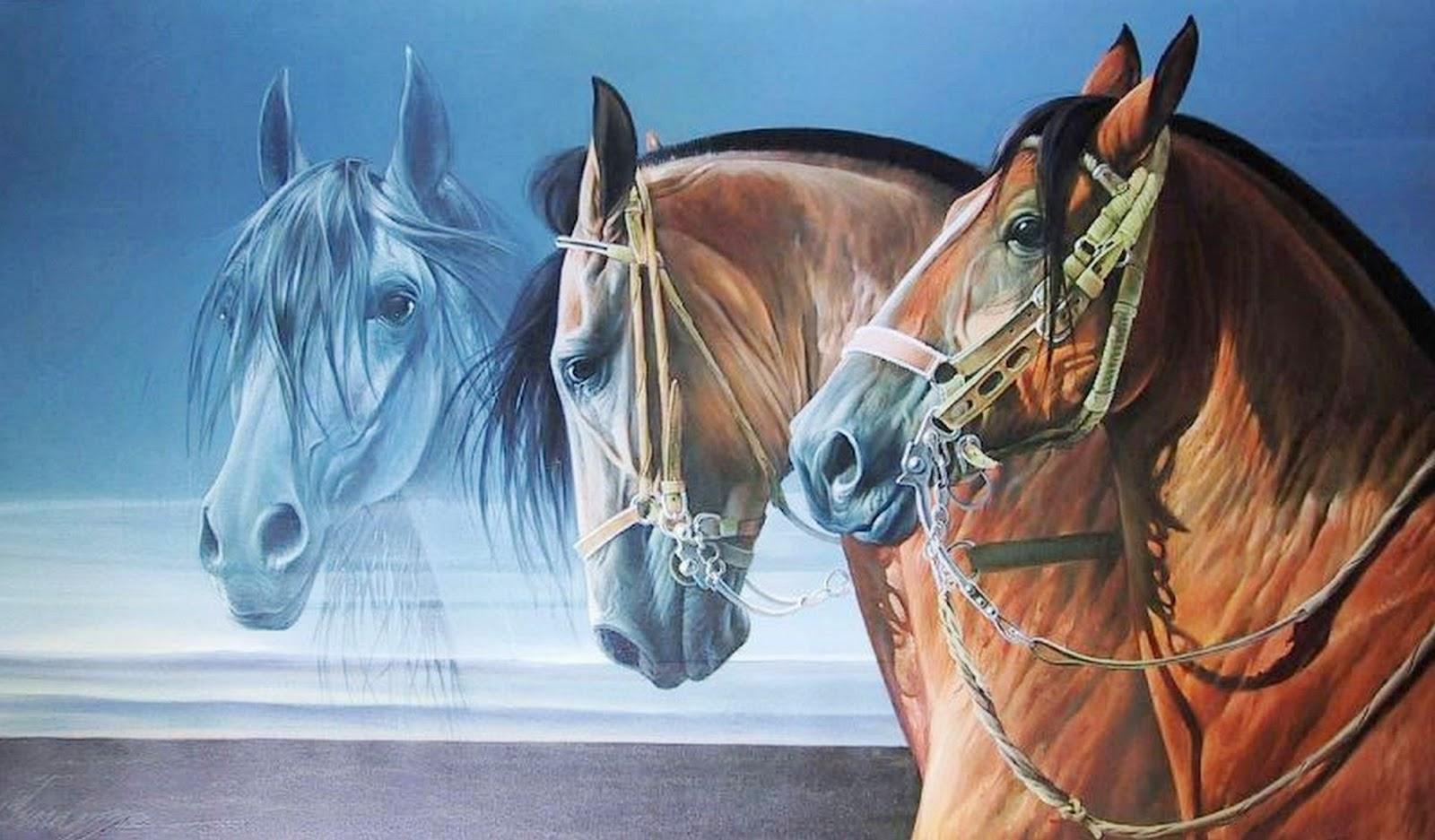 Cuadros pinturas oleos cuadros con caballos de pintor for Cuadros pintados al oleo