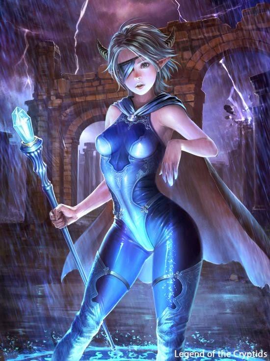Shuichi Wada ilustrações fantasia game legends cryptids mulheres