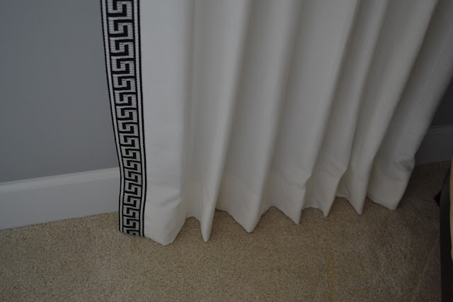 Ikea curtains makeover + bamboo roman shades