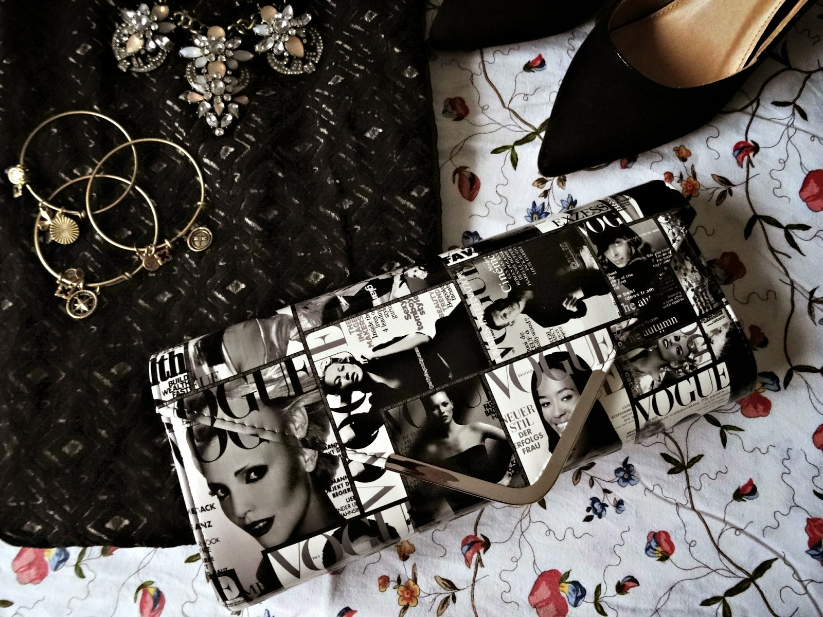 Magazine Clutch with Vogue Covers