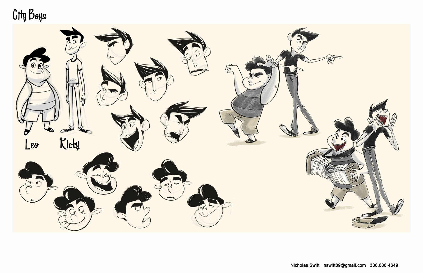 Character Design Portfolio : Nick swift character design portfolio