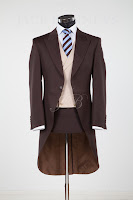 morning tail suit hire in chocolate brown