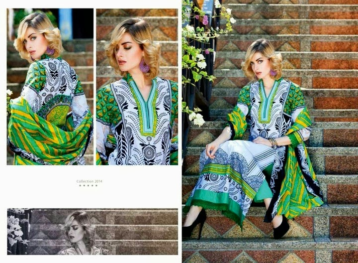 Green Lawn Suit for Womens