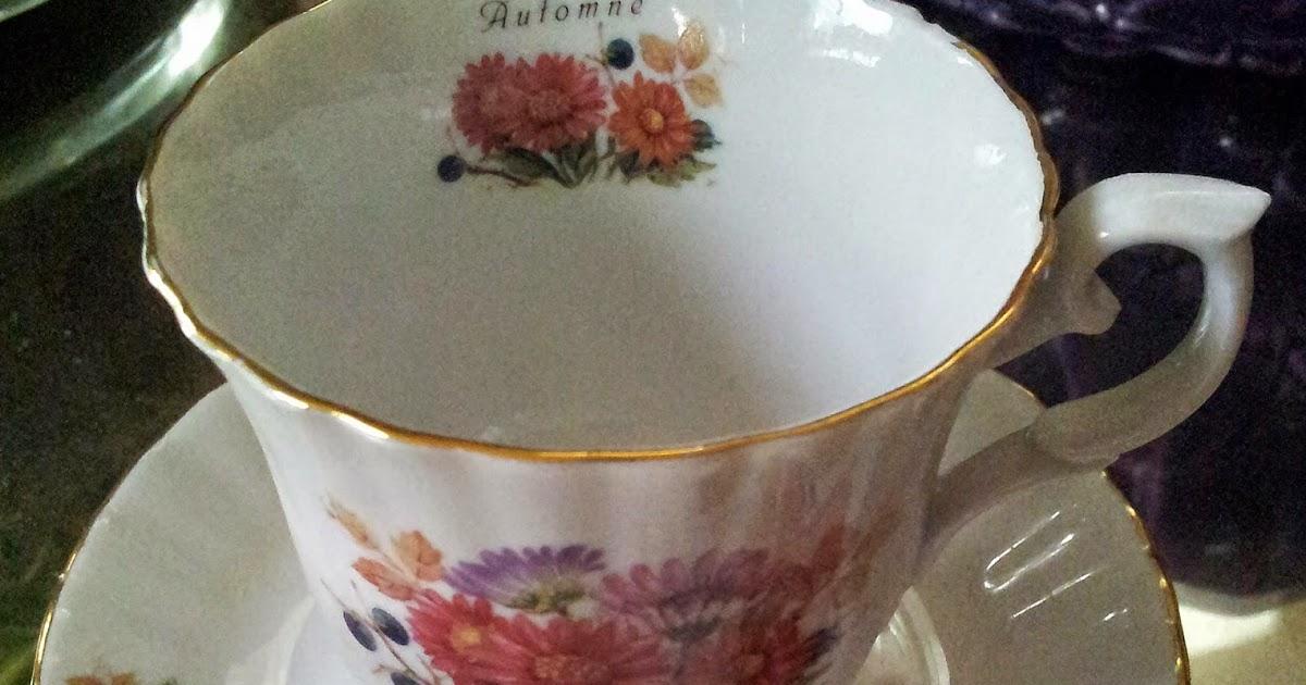 les dedees vintage recup creations tasse a th ou caf plaisir d 39 automne by anne. Black Bedroom Furniture Sets. Home Design Ideas