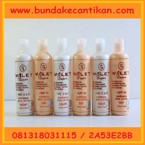 WALET SUPER WHITENING BODY LOTION 100% HERBAL CALL 081318031115