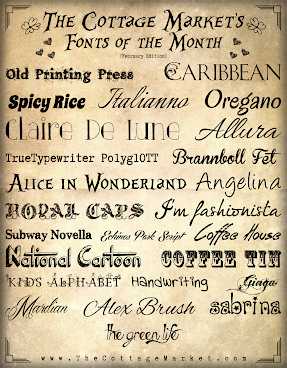 Free Fonts of February