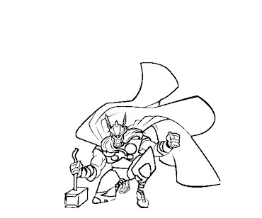 #7 Thor Coloring Page