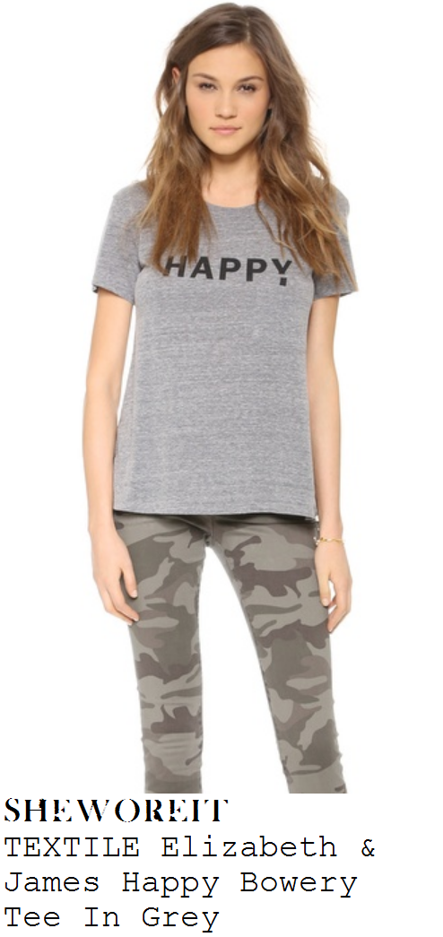 victoria-beckham-grey-happy-slogan-print-short-sleeve-t-shirt