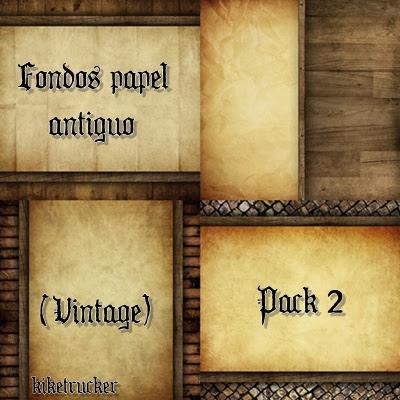 Fondos Papel Antiguo  Vintage    Pack 2