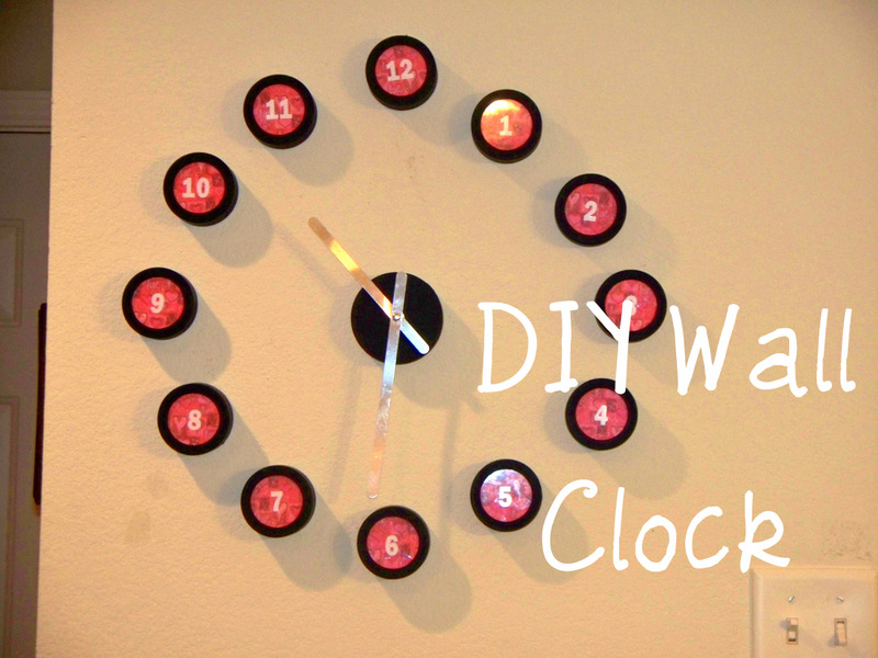 young texan mama diy wall clock
