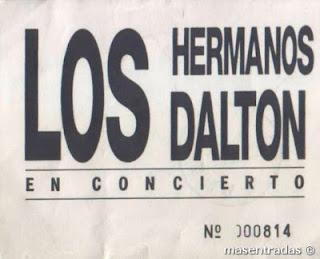 entrada de concierto de los hermanos dalton
