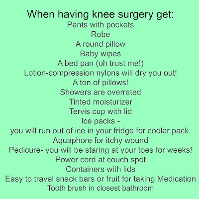 What you need at home after surgery