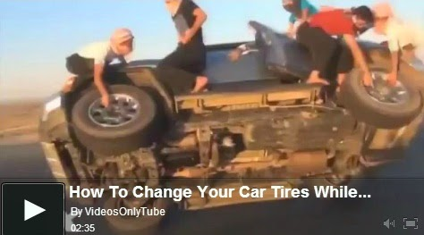 http://funkidos.com/videos-collection/amazing-videos/how-to-change-your-car-tires-while-driving