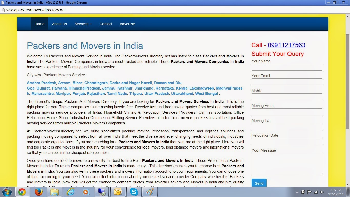 Packers Movers in India