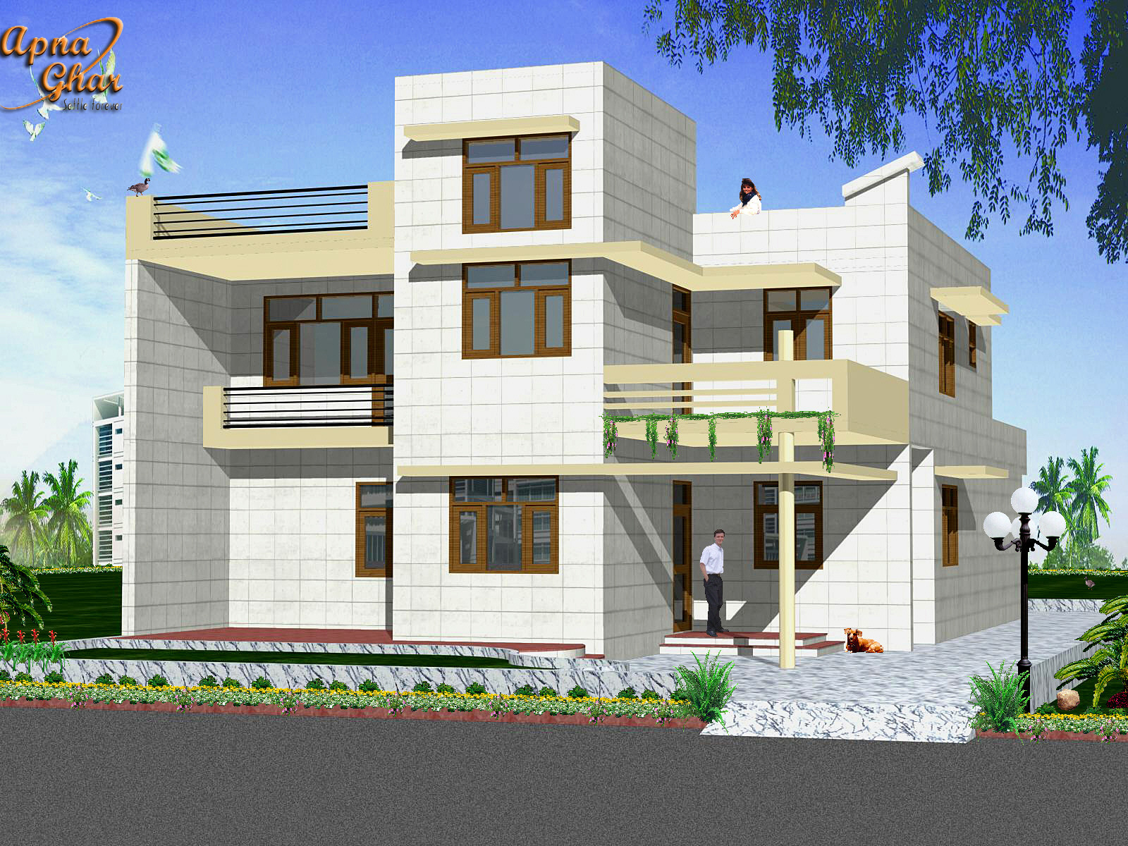 Front Elevations (2-D) – with the help of Architecture designing