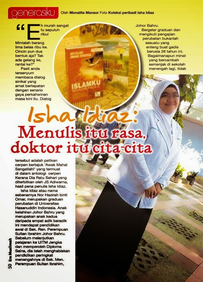 Artikel di majalah Era Muslimah (dengan kerjasama Puan Editor)
