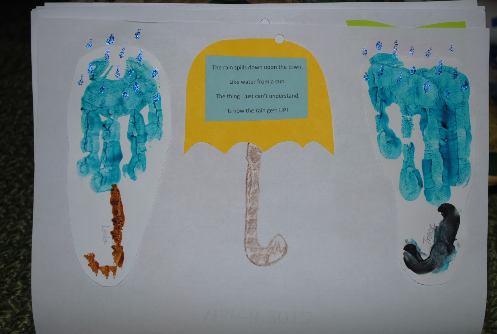 April Handprint Calendar : Prairie mother marker monday handprint calendar gift idea