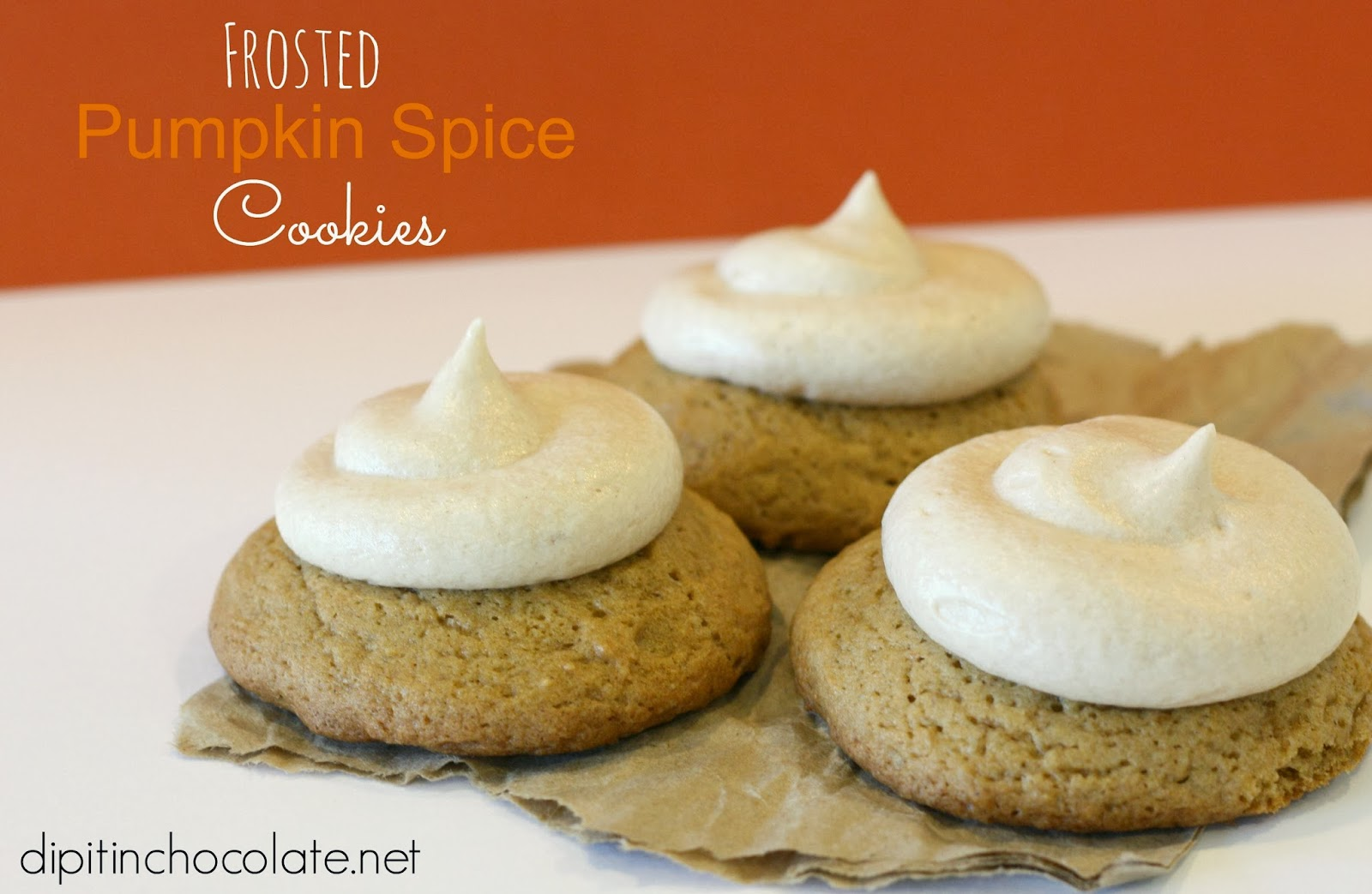 Frosted Pumpkin Spice Cookies ~ Dip it in Chocolate