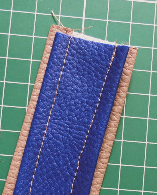 Faux Leather Straps Tutorial