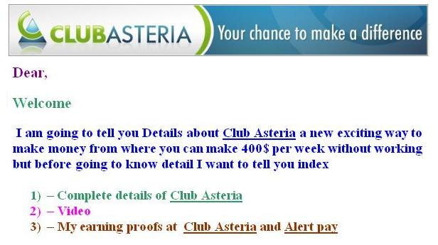 Details of Club Asteria