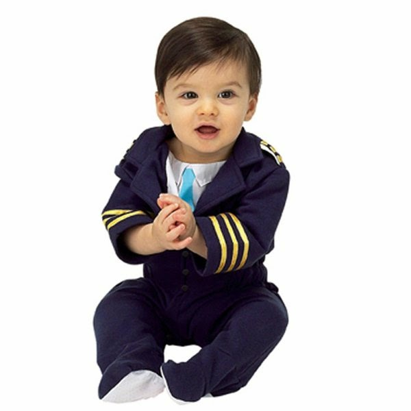 Foto bayi lucu jadi pilot