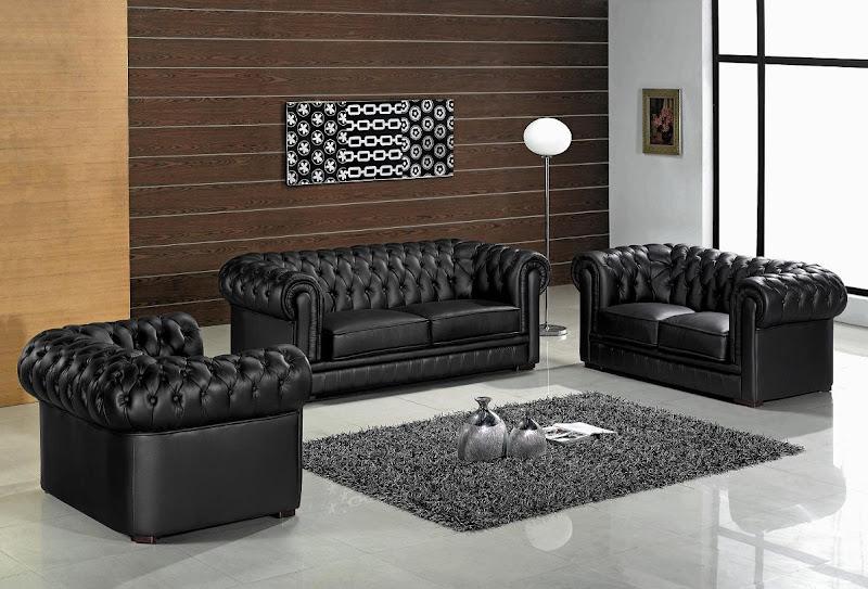 Black Living Room Furniture Sets (5 Image)