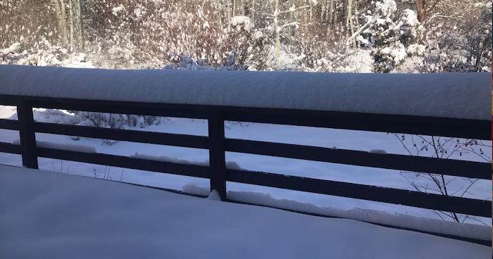 """.....minus 9 DEGREES & 14"""" OF FRESH GLORIOUS SNOW..."""