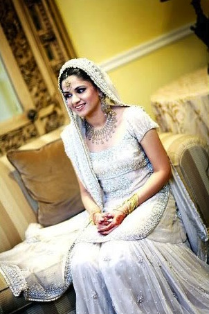 Indian Bride In A White Dress